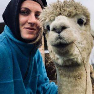 Cecilia e Alpaca inverno